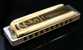24KT Gold Plated Suzuki Manji Harmonica